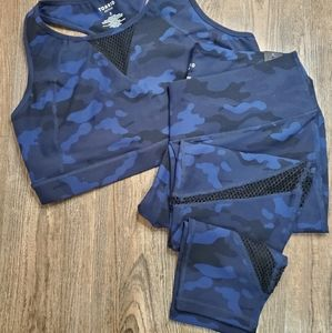 NWT Torrid Active Blue Camo set